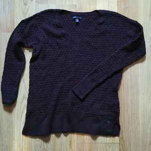 American Eagle See-thru Burgundy Sweater XS New